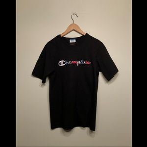 Champion Black Graphic Tee